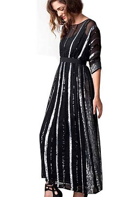 Gryphon-ny-10ss-sequin-stripe-maxi-dress