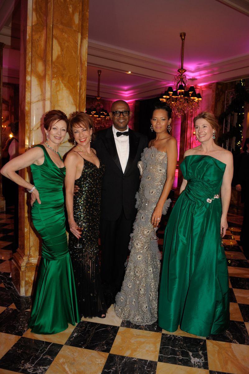 Frances Fisher, Kathy Lette, Forest Whitaker and wife Keisha, Judy Aldridge