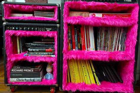 Furry pink shelf