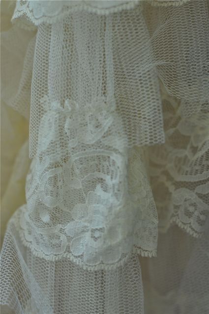 Cream lace close