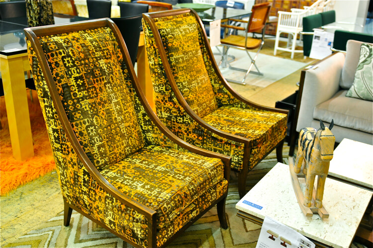 sloped chairs
