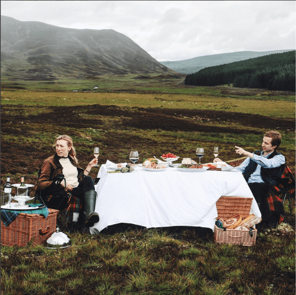 Photo of Jo Rodgers & Husband in Scotland from Vogue Spread
